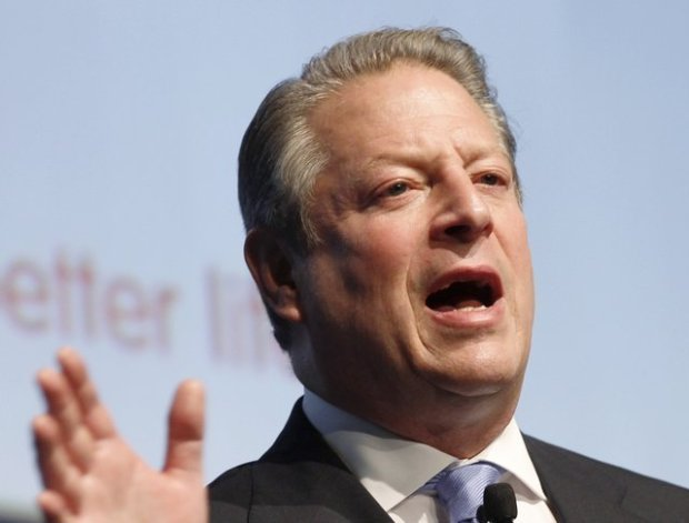 FILE - In this Oct. 27, 2010 file photo, former US Vice President Al Gore speaks in Milan, Italy. Sarah Palin and George W. Bush won't be in Tampa. Hillary Rodham Clinton and Al Gore aren't making the trip to Charlotte. And scores of other Republican and Democratic stars are taking a pass as their parties gather at every-four-years national conventions. The reasons are varied _ and political. (AP Photo/Luca Bruno, File)