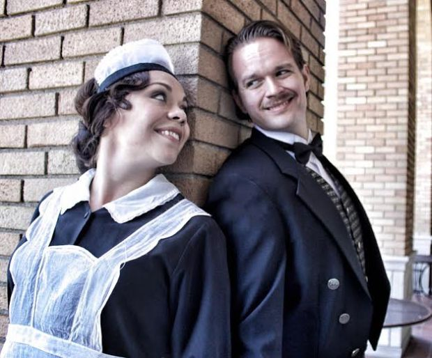 """Servants Susanna (Tess Altiveros) and Figaro (Gabriel Preisser) pull a fast one on their boss in """"The Marriage of Figaro."""" (Veramarinerstudio photo)"""