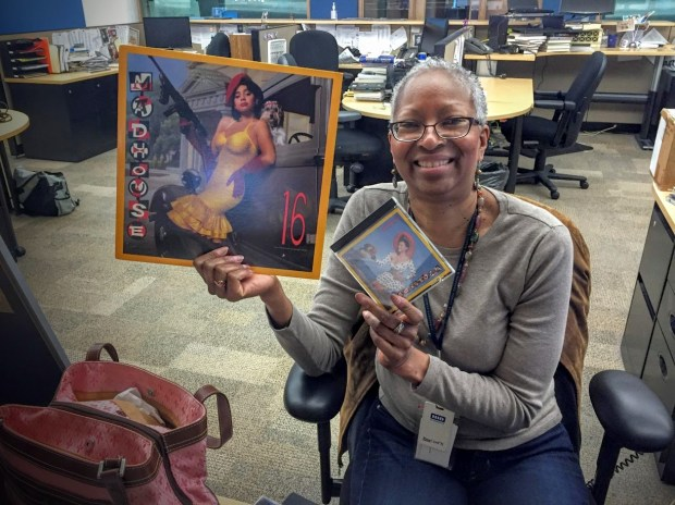 Minnesota Public Radio's Toni Randolph showed off prized items in her extensive Prince collection. (Courtesy photo: Sheletta Brundidge)