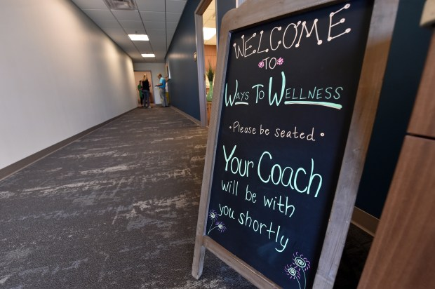 The welcome sign at the HealthEast Woodwinds Health Campus Ways to Wellness Center in Woodbury on Tuesday, June 28, 2016. (Pioneer Press: John Autey)