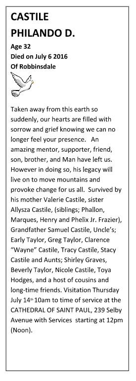 PhilandoCastile_obituaryphoto