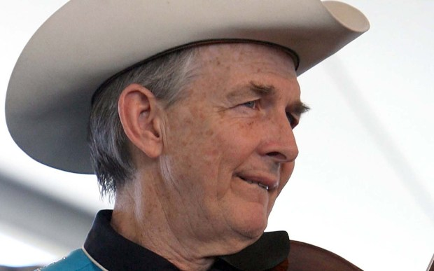 Country fiddler-singer Woody Paul of Riders in the Sky is 67. (Getty Images: Karl Walter)