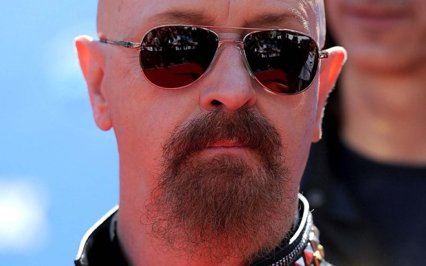 Judas Priest frontman Rob Halford is 65. (Getty Images: Frazer Harrison)