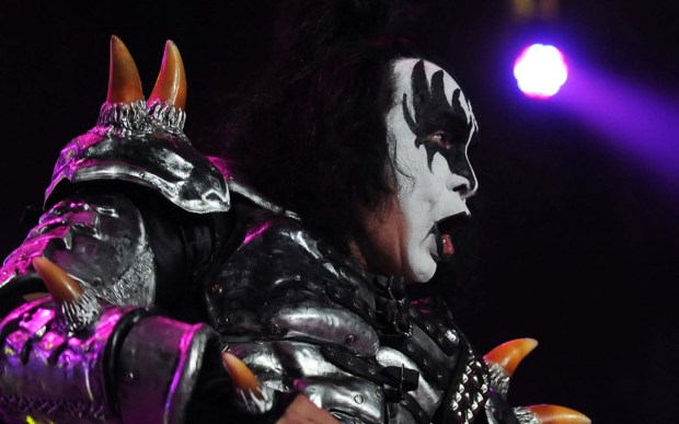 Rock singer-actor Gene Simmons is 67. He's shown in full regalia with his band Kiss, performing at Target Center in Minneapolis on Aug. 17. (Pioneer Press: Scott Takushi)