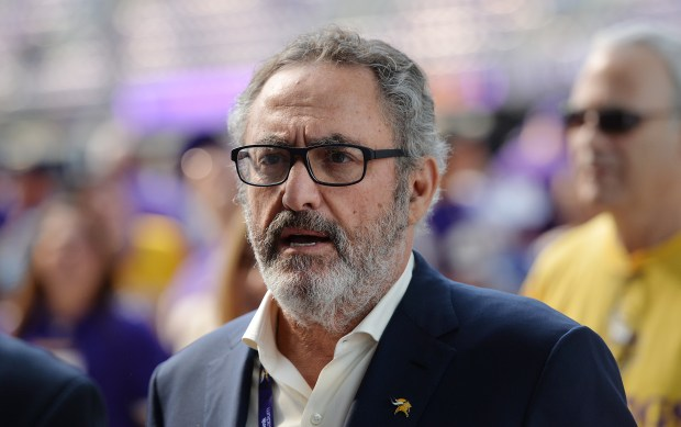 Vikings owner Ziggy Wilf walks through the main concourse before the start of the Vikings preseason game against the San Diego Chargers at U.S. Bank Stadium on Sunday, August 28, 2016.(Pioneer Press: John Autey)
