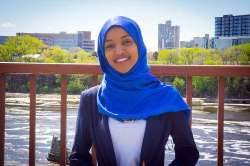 Undated courtesy photo, circa Aug. 2016, of Ilhan Omar, candidate for Minnesota state representative in District 60B. Omar defeated Rep. Phyllis Kahn in the Aug. 9, 2016 primary election to become the DFL candidate in the Nov. election. Kahn, 79, had represented the Minneapolis district for more than 40 years since being elected as a DFLer in 1972. If Omar wins in Nov., she would become the state's first Somali-American lawmaker in the Legislature. She is a community activist, who spent four years in a refugee camp after her family fled the Somali civil war and has worked for a council member in Minneapolis. Photo courtesy of the candidate.