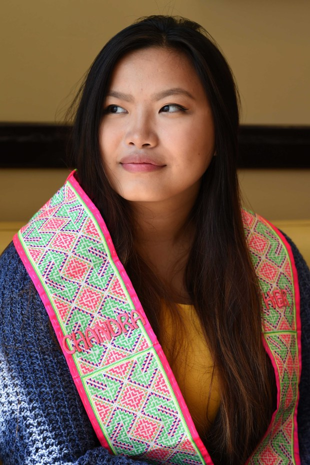 Chandra Her was asked to remove her family stole just before Harding High School's graduation ceremony in June, photographed, Monday ,August 22, 2016 in Minneapolis. (Pioneer Press: Scott Takushi)