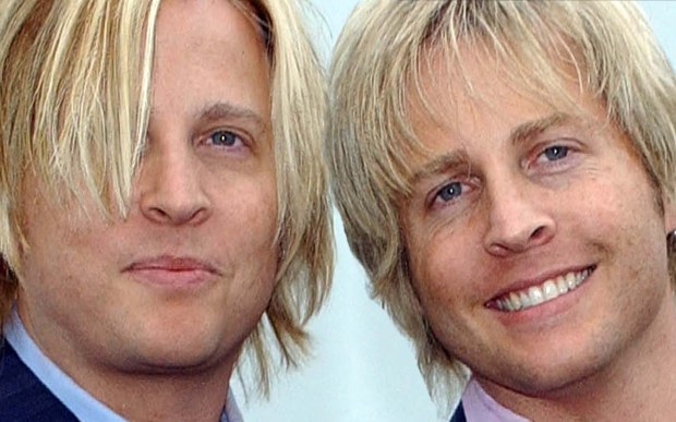 Singers Gunnar, left, and Matthew Nelson of Nelson are 49. They're sons of singer Ricky Nelson and grandsons of TV parents Ozzie and Harriet. (Getty Images: Amanda Edwards)