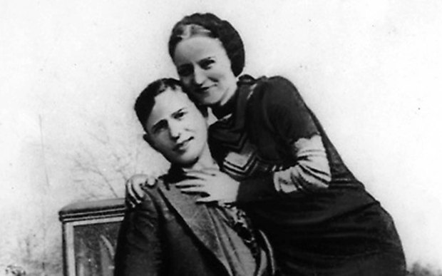 Great Depression-era outlaw Bonnie Parker — shown in an undated photo with her partner, Clyde Barrow — was born on this day in 1910. Bonnie and Clyde died in a police shootout in 1934. (Courtesy of Associated Press)