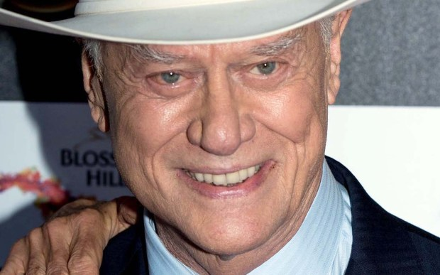 "Actor Larry Hagman was born on this day in 1931. He portrayed the hapless astronaut in charge of a genie in the 1960s sitcom ""I Dream of Jeannie"" and then the dastardly J.R. Ewing in the 1980s primetime soap ""Dallas."" He was back in the spotlight with the new, TNT-version of ""Dallas"" just before his death in 2012. (Getty Images: Ian Gavan)"