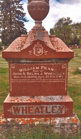 The headstone of CPR 694 engineer Frank Wheatley in Thunder Bay, Ontario. (Photo courtesy of Doug Stefurak)