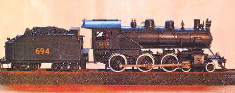 A small scale replica of Canadian Pacific Railway Locomotive 694. (Photo courtesy of Doug Stefurak via Forum News Service)