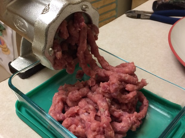 Unless you've meticulously removed all the silverskin and sinew, don't try to run squirrel meat through anything smaller than a course grater. (Pioneer Press: Dave Orrick)