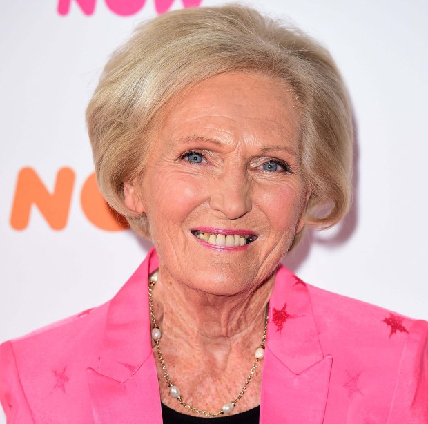FILE - This is a March 11, 2016 file photo of British cookery writer Mary Berry. Berry announced Thursday Sept. 22, 2016, that she will quit as a judge on the hit TV baking competition when it leaves the BBC next year for another channel. Her co-judge, bread expert Paul Hollywood, said he would stay. (Ian West/PA File, via AP)