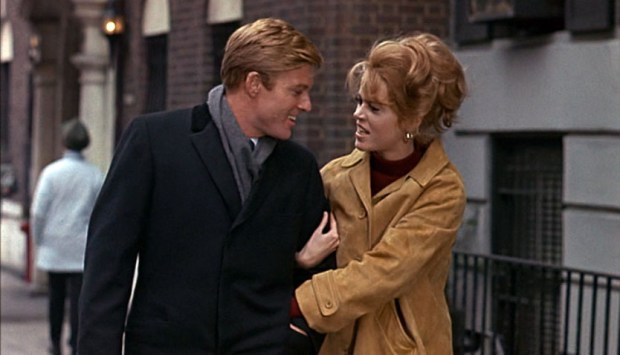"Robert Redford and Jane Fonda in ""Barefoot in the Park"" (1967)."