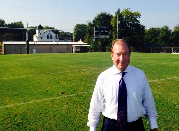 Steve South is shown at John Tarleton Park in Knoxville, Tenn. on Sept. 9, 2016, where Minnesota Vikings safety Harrison Smith played his first football games. South was Smith's first coach with the Bearden Bulldogs in 1997, when Smith was in third grade. (Pioneer Press: Chris Tomasson)