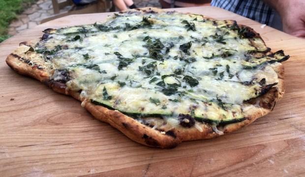 Zucchini tapenade pizza (Pioneer Press: Jess Fleming)