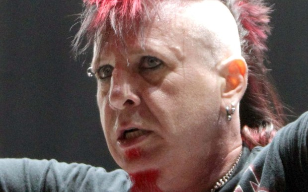Singer Chad Gray of the bands Mudvayne and Hellyeah is 45. (Associated Press: Owen Sweeney)