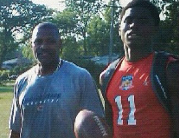 Vikings wide receiver Laquon Treadwell, right, met former Bears cornerback Mike Richardson, left, when Richardson returned to the Chicago area to resume his career training football players. It was the 2010-11 school year, and Treadwell was in the 10th grade at Crete-Monee High School. Richardson trained and advised Treadwell, and the lessons continued when Treadwell played at Mississippi from 2013-15, and now during the receiver's rookie NFL season. (Courtesy photo)