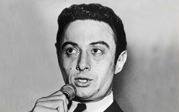 The late comedian Lenny Bruce was born Leonard Alfred Schneider on this day in 1925. He died in 1966. (Photo by Hulton Archive/Getty Images)
