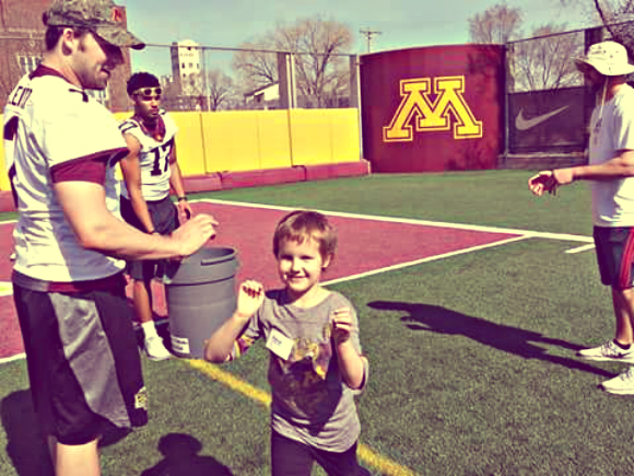 "Cancer survivor Alexa ""Lexi"" Kirkwood, 8, of Oakdale, has been selected through TCF Bank and Make-A-Wish Minnesota to be the TCF Bank Kickoff Kid for the Minnesosta Gophers' Homecoming football game at TCF Bank Stadium on Saturday, Oct. 22, 2016. (Courtesy photo)"