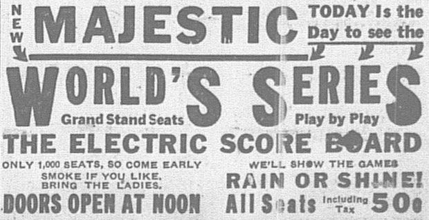 New Majestic Theater World Series Ad