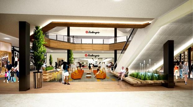 Roseville MNs Rosedale Center Renovation Adds Von Maur