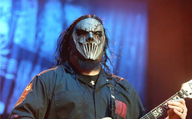 Guitarist Mick Thomson of the Des Moines-based heavy metal band Slipknot is 43. (Owen Sweeney/Invision/AP)