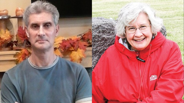 Marc Davey, left, and Judith Hazen.