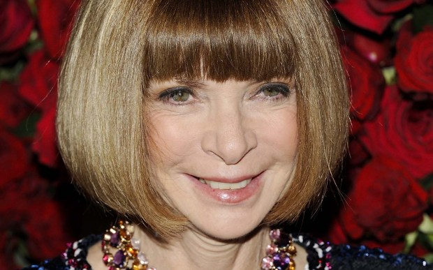 "Fashion icon and designer Anna Wintour is 67. She reportedly was the muse for the title character in the Meryl Streep film ""The Devil Wears Prada"" and for Edna Mode in Pixars' animated ""The Incredibles."" (AP Photo/Evan Agostini)"