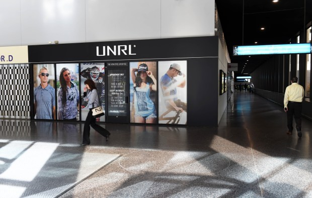 The UNRL sports apparel showroom in a skyway next to the Ecolab corporate headquarters in downtown St. Paul, Wednesday, Nov. 2, 2016. (Pioneer Press: Scott Takushi)