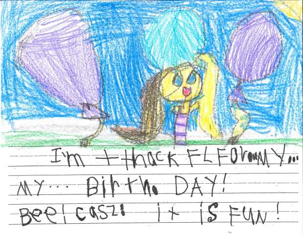 """""""I am thankful for my birthday! Because it is fun!"""" — Lean L, Oakdale, Eagle Point Elementary School"""