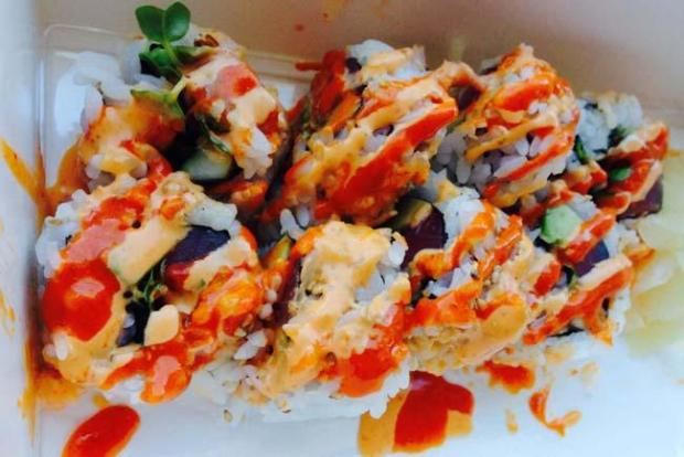 The spicy tuna roll from One Two Three Sushi in downtown St. Paul. (Pioneer Press: Jess Fleming)