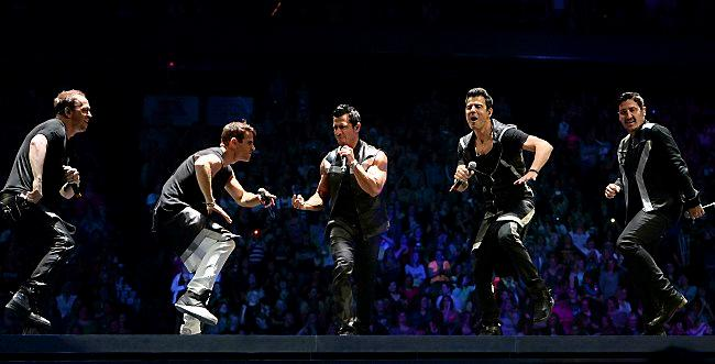 New Kids on the Block perform during their show at Xcel Energy Center on Wednesday, May 20, 2015. (Pioneer Press: John Autey)