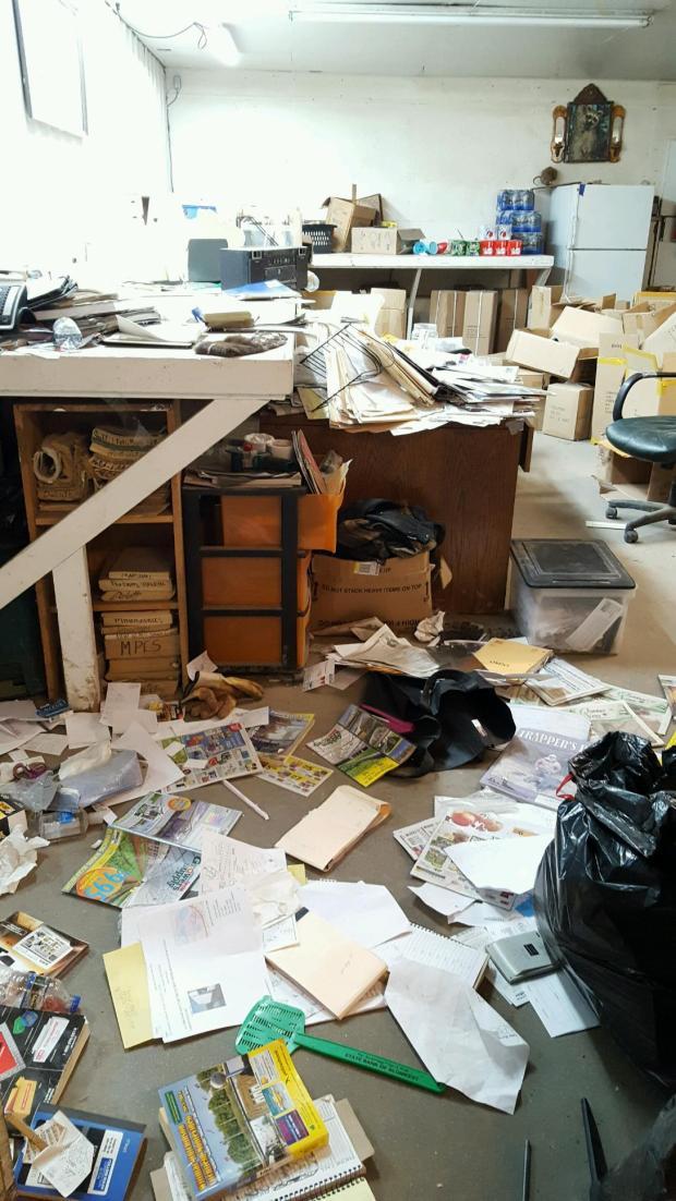 The marauding deer made a mess inside Johnson Fur. (Forum News Service)
