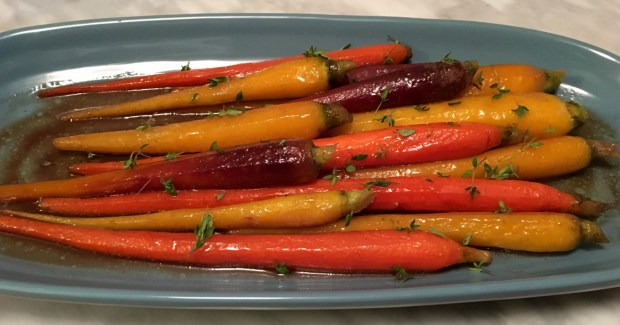 Glaze carrots are a perfect addition to your Thanksgiving meal. (Pioneer Press: Jess Fleming)