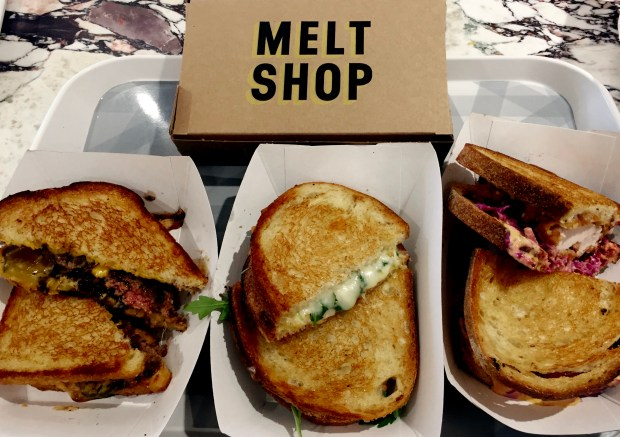 Burger, Truffle and Fried Chicken melts at Melt Shop at the Mall of America on October 20, 2016. (Pioneer Press: Nancy Ngo)