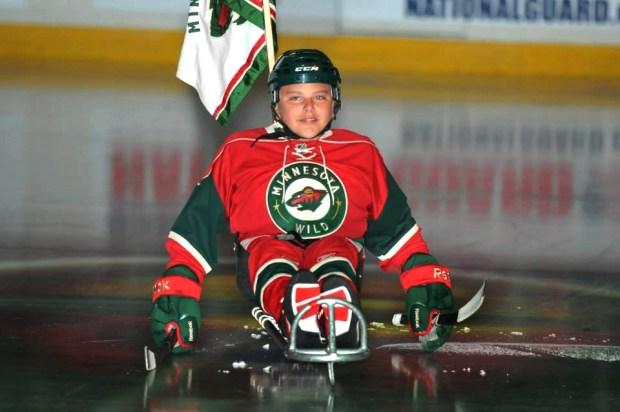 Daniel Lee Lilya on ice.