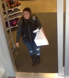 Roseville police suspect this individual was involved in a theft. Anyone with information about the person's whereabouts is asked to contact Minnesota Crime Stoppers.