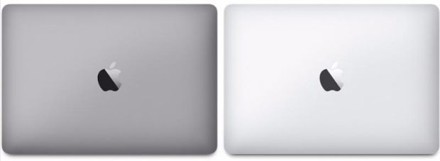 The revamped MacBook Pro comes in Space Gray, left, and standard standard silver, right. (Courtesy of Apple)