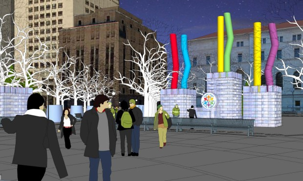 A rendering of the mini ice palace planned for Rice Park for the 2017 St. Paul Winter Carnival. (Courtesy of St. Paul Winter Carnival)