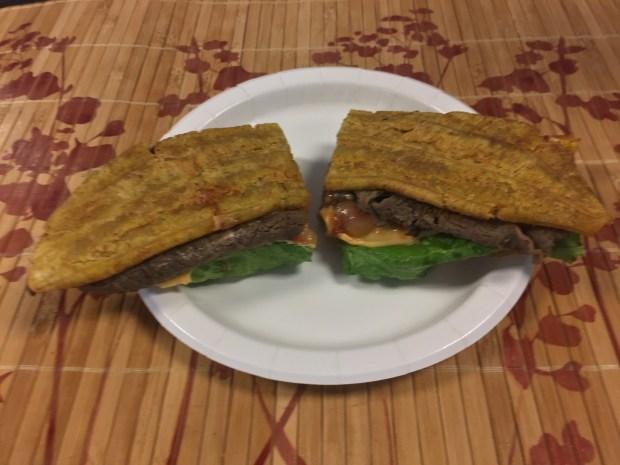 Jibarito Sandwich at El Jibarito Food Truck. (Pioneer Press: Nancy Ngo)