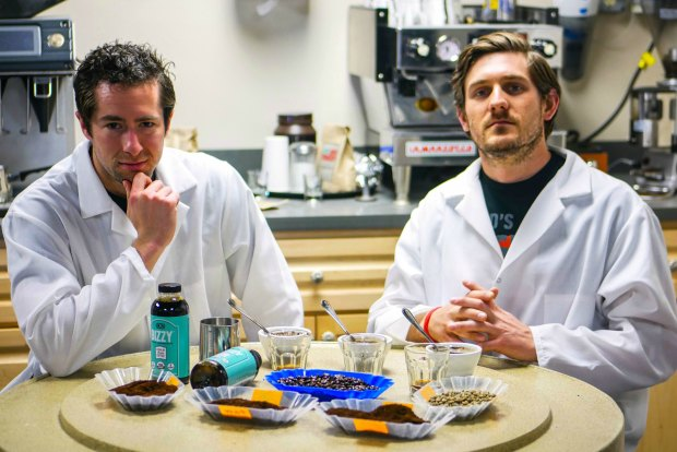 Alex French, left, and Andrew Healey, right, are founders of Get Bizzy Inc. (photo courtesy James J. Hill Center)