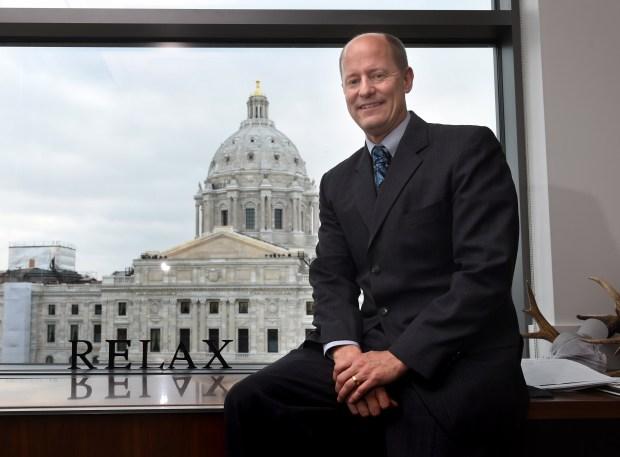 Minnesota Senate Majority Leader- Elect Paul Gazelka in his St. Paul office, Wednesday, December 7, 2016. (Pioneer Press: Scott Takushi)