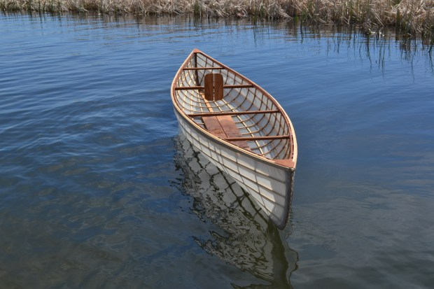 A Wee Lassie canoe built by teenagers in St. Paul. (Courtesy of Urban Boatbuilders)