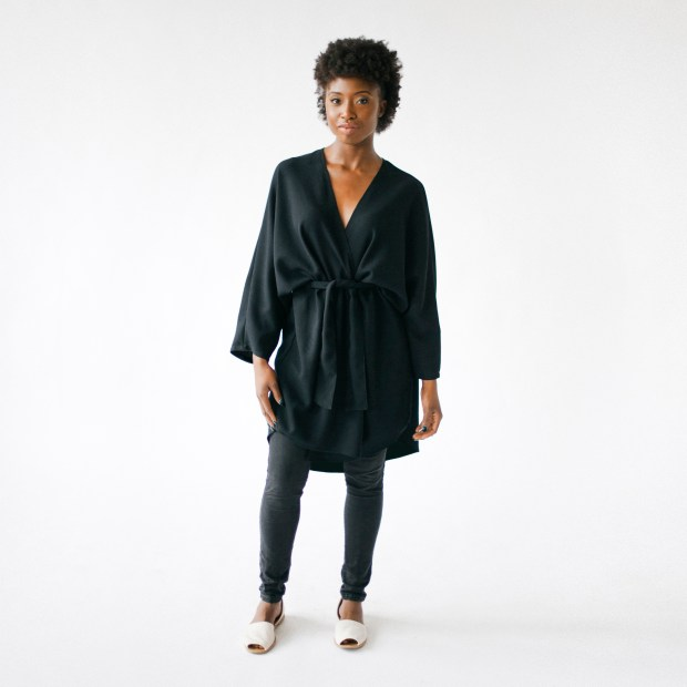 HDH Basics black kimono for $130 by Hackwith Design House. (Courtesy Hackwith Design House)