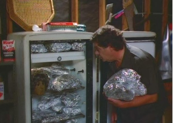 """Jackie Vernon deals with some leftovers in """"Microwave Massacre."""" (Courtesy photo)"""