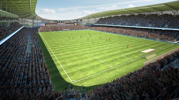 Undated rendering, circa Dec. 2016, of the interior of Minnesota United FC soccer stadium, to be built in St. Paul. (Courtesy of Minnesota United)