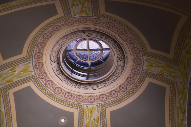 A restored third-floor skylight. (Pioneer Press: Scott Takushi)
