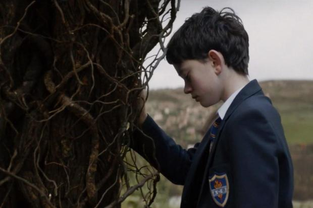 "Lewis MacDougall plays a boy who seeks solace in an unlikely friend -- a tree monster -- in ""A Monster Calls."" (Focus Features)"